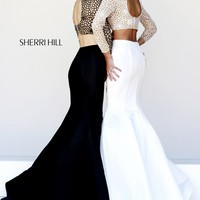 Sherri Hill 32009 Two Piece Long Sleeve Dress