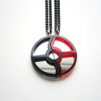 Pokeball Necklaces   Pokemon Friendship by LaserCutJewelry on Etsy