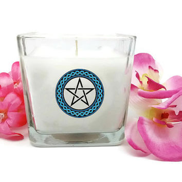 Soy Candle, Pentacle, Wiccan Candle, Pagan Candle, Witchcraft Candle, Occult Candle, Altar Candle, Ritual Candles, Spell Candles, Meditation