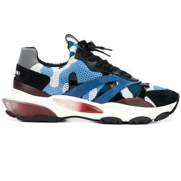 Blue Camouflage Runners by Valentino