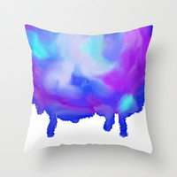 Colorful  Throw Pillow by SanjaArt