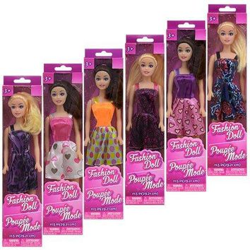 """American Fashion Dolls 11"""". Set of 6 with different clothes. Introduce them to your Barbie collection. Great favors for Birthday Party gifts"""