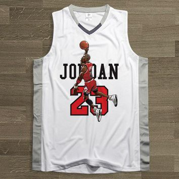 BONJEAN 23 Micheal Jordan Fly Man Basketball Jersey Top Quality Uniforms Sports Sets White Breathable Training Shirts Shorts