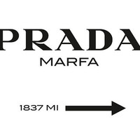 Gossip Girl Prada Wall Art 16x20 Luxury Fashion Sign