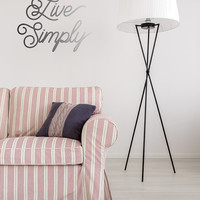 Live Simply Wall Decal, Typography Wall Sticker, Kids Sticker, Typography Decal, Nursery Decal, Office Decor, Office Wall Decal, Bedroom Art