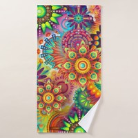 colorful absrtact bath towel