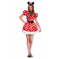 Disguise Womens Minnie Mouse Halloween Party Dress Costume