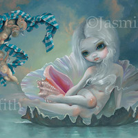 Venus with Cherubs art print by Jasmine Becket-Griffith12x16 BIG greek goddess angels seashell