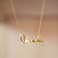 Beautiful Golden Love Necklace