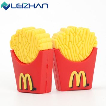 Cute French Fries Shape USB Flash Drive 8gb 16gb 32gb 64gb Usb disk USB 2.0 pen drive Memory Stick pendrive U Disk