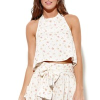 Some Days Lovin Drop Out Halter Crop Top - Womens Shirts - Multi