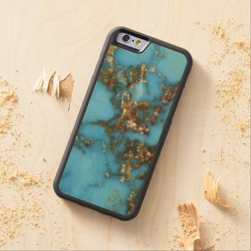 Natural Turquoise Stone Carved® Maple iPhone 6 Bumper Case