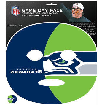 Seattle Seahawks Game Face Temporary Tattoo FGFD155