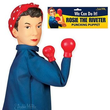 Rosie the Riveter Punching Puppet
