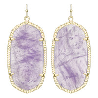 Kendra Scott Danielle Drop Earrings in Gold with Genuine Amethyst