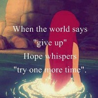 give up | via Facebook - inspiring picture on Favim.com