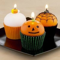 Halloween Cupcake Candle, Set of 3 | Candles & Home Fragrance| Home Decor | World Market