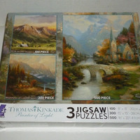 Thomas Kinkade 3 in 1 Multi Pack Jigsaw Puzzles