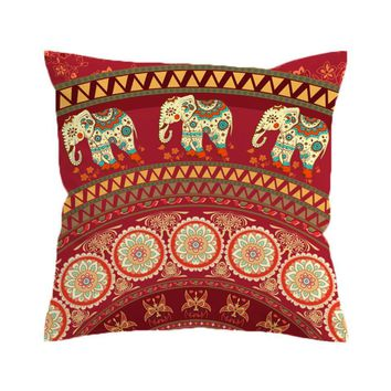 Indian Elephant Pillow Cover