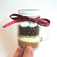 Hot Chocolate Mini Mason Jar Mug- 4 oz Mason Jar Mug, Milk Chocolate Hot Cocoa Mix, Layered Mix, Corporate Gift, Favor, Stocking Stuffer