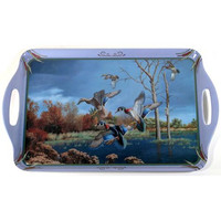 Wood Ducks Wild Wing Serving Tray (19 x 11.5)