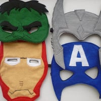 Felt Avengers masks: Captain America, Hulk, Thor and Iron Man masks for dressing up/superhero masks