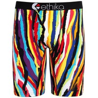 New! ethika The Staple Men's Underwear Boxer Colorful Rainbow Stripes