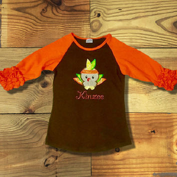 Brown & Orange Icing Raglan T-Shirt