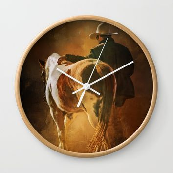 Into The Sunset Wall Clock by Theresa Campbell D'August Art