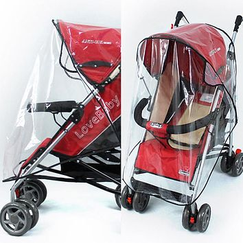 Waterproof Raincover for Stroller Prams Cart Dust Rain Cover Raincoat for A Stroller Pushchairs Accessories Baby Carriages