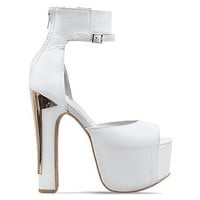 Jeffrey Campbell All The Way in White Gold at Solestruck.com