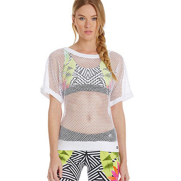 Trina Turk Recreation Sporty Mesh Dolman Top | Dillards