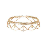 Chain Drape Headband - Cream