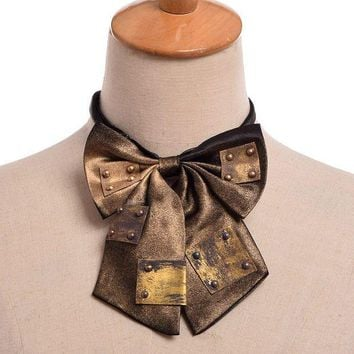 PEAPON 1pc Steampunk Vintage Bowknot Bow tie Industrial Victorian Neck Tie Costume Accessory