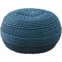 "Contemporary Blue Pouf (14""x20"")"