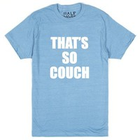 That's So Couch-Unisex Heather Lake Blue T-Shirt