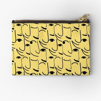 'Smiling Side Faces' Studio Pouch by Gravityx9