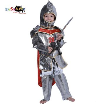 Cool Eraspooky Halloween Party Kids Royal Warrior Knight Costumes Boys Soldier Children Medieval Roman Cosplay Carnival Fancy DressAT_93_12