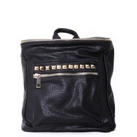 Faux Leather Stud Backpack