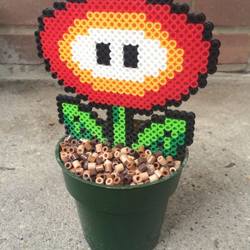 "Super Mario ""Fire Flower"" Potted Plant"