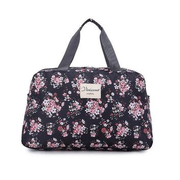 2018 Hot Women Lady Large Capacity Floral Duffel Totes  Sport Bag Multifunction Portable Sports Travel  Luggage Gym Fitness Bag