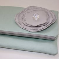 Minty Fresh Clutch Case by AlmquistDesignStudio