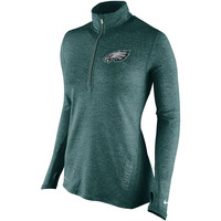 Women's Philadelphia Eagles Nike Midnight Green Stadium Element 1/2 Zip Performance Jacket