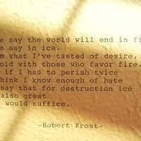 ROBERT FROST Hand Typed Poem Made with Vintage Typewriter