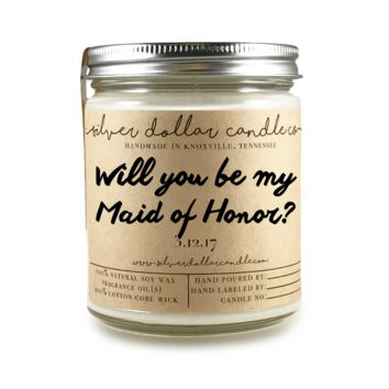 Maid of Honor Proposal - 8oz Soy Candle [V1]