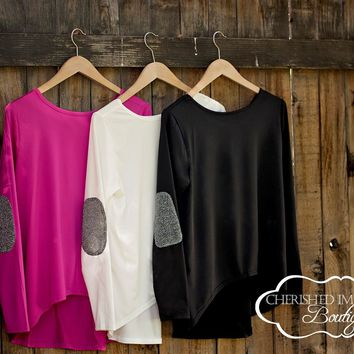 Free Shipping! | Lovely Long Sleeved Tunic- 3 colors!