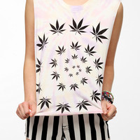 Truly Madly Deeply Trippy Leaf Muscle Tee