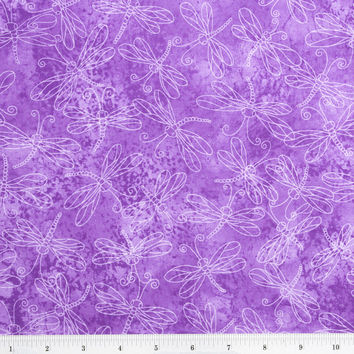 Sundrenched Dragonfly Lavender, Quilting Material, F2021