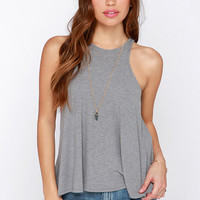 Dee Elle Tanks So Much Grey Tank Top