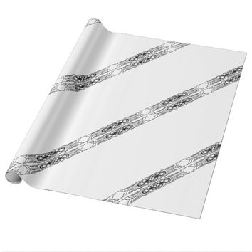 Border 1 black wrapping paper